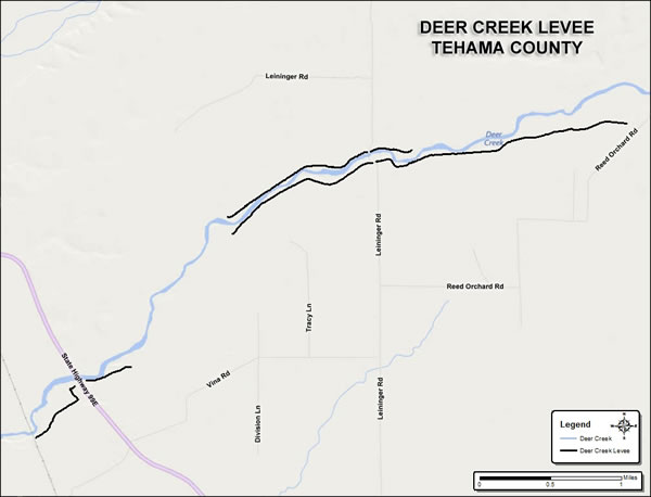 Deer Creek Levee System Map