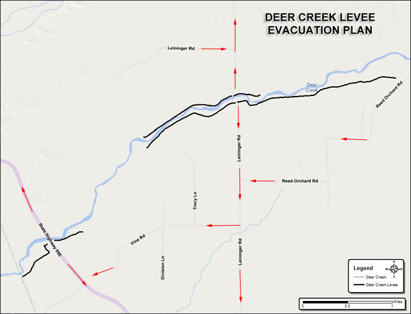 Deer Creek Levee Evacuation Map
