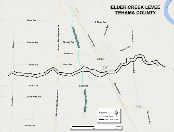 Elder Creek Levee System Map
