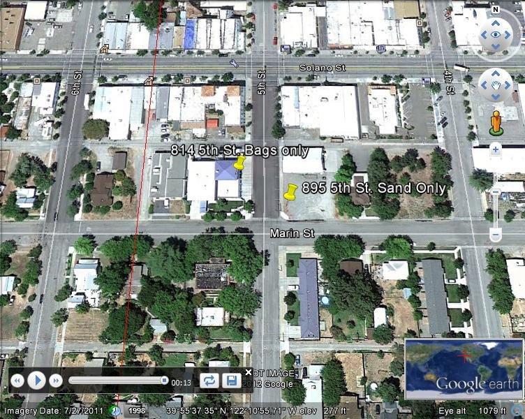 Corning, CA - Sandbag Map