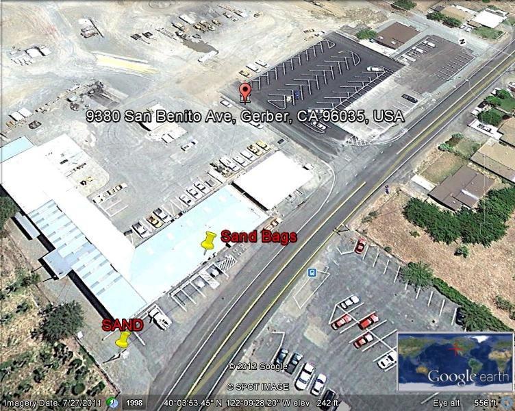 Gerber, CA - Sandbag Map