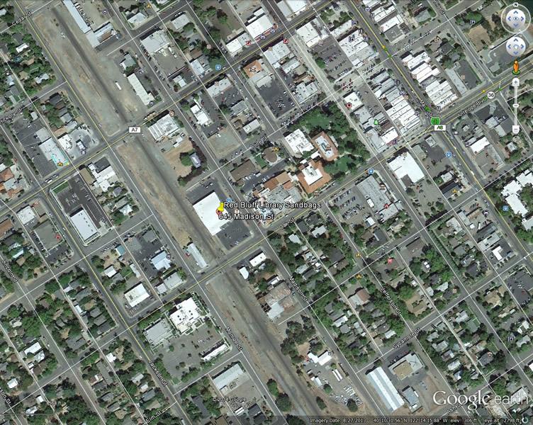 Red Bluff, CA - Sandbag Map