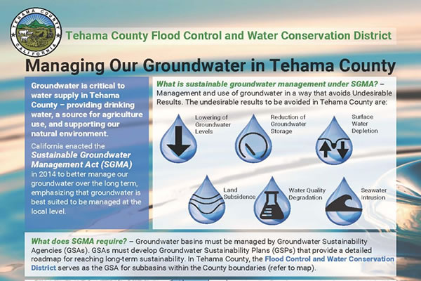 Managing Our Groundwater in Tehama County